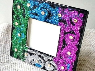 How To Create A Glitter Decorated Photo Frame - DIY Home Tutorial - Guidecentral