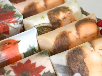 How To Create Beautiful Christmas Soap Using Napkins - DIY Beauty Tutorial - Guidecentral