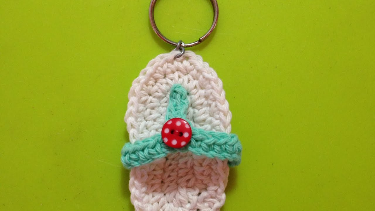 How To Crochet Mini Slipper Key Chain - DIY Crafts Tutorial - Guidecentral