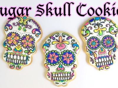 How To Decorate Sugar Skull Cookies!