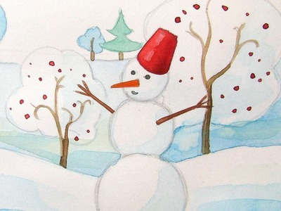 How To Draw A Beautiful Winter Landscape - DIY Crafts Tutorial - Guidecentral
