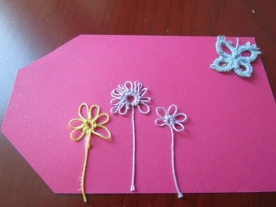 Needle tatting daisy