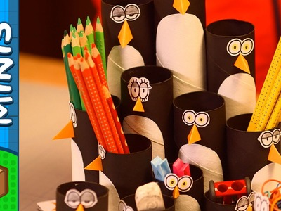 Penguin Colony Pencil Organizer | DIY Crafts Ideas For Kids