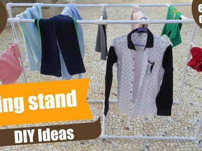 PVC Clothes Drying Stand.Rack - DIY Ideas - Ideas with PVC - How to make Drying Stand