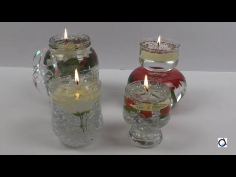 Water Candle DIY Wedding Centerpiece