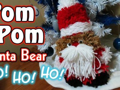 Yarn Pom-Pom Santa Teddy Bear DIY - Fun, Cute & Easy To Make