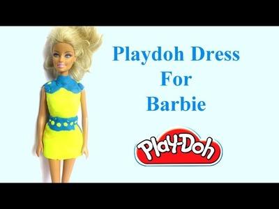 Barbie Doll Dress | How To Make Barbie Playdoh Dress