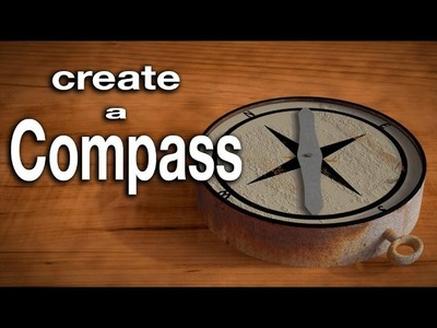 Blender Tutorial: How to create and animate a compass.