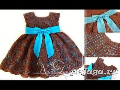 Crochet baby dress| How to crochet an easy shell stitch baby. girl's dress for beginners 65