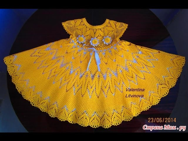 Crochet dress| How to crochet an easy shell stitch baby. girl's dress for beginners 60