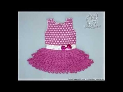 Crochet dress| How to crochet an easy shell stitch baby. girl's dress for beginners 56