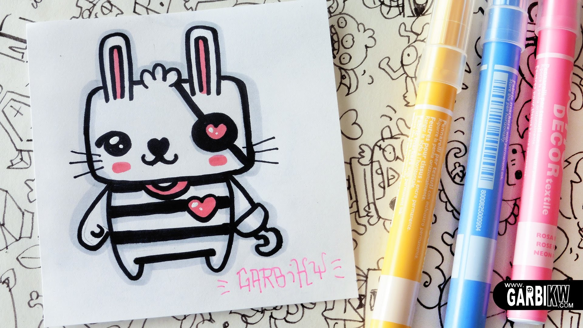 Cute Pirate Bunny - How To Draw Kawaii by Garbi KW