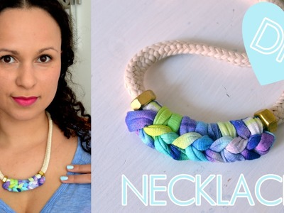 ♥ DIY Boho Hippie Statement Necklace | quick & easy | how to | tutorial
