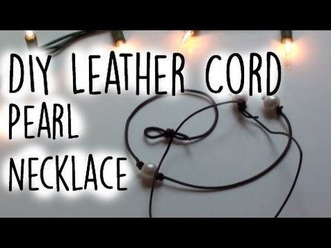 DIY: Leather Cord Pearl Necklace || Seaside Inspired