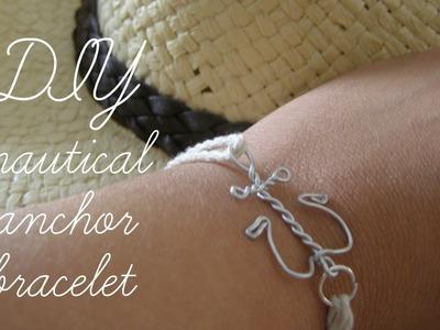 DIY: nautical bracelet-anchor design (+DIY the charm)