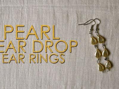 DIY : Pearl Tear Drop Ear Rings   Ear Rings   Simple Ear Rings