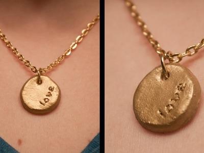 DIY: Stamped Necklace
