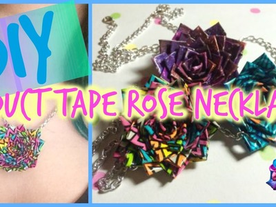 EASY - How To Make A Duct Tape Rose Necklace!