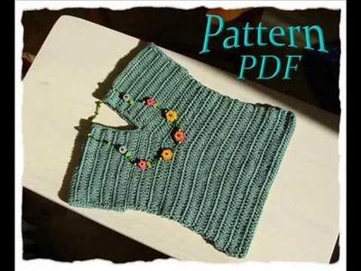 Elegant simple crochet pattern girls top