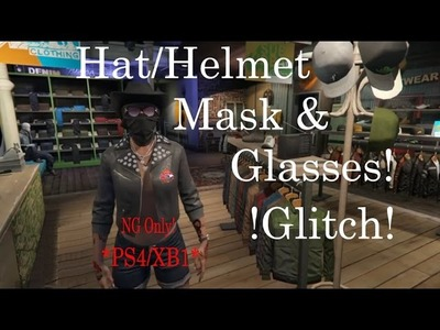 GTA V Online - How to wear a Hat, Mask, AND GLASSES (& Heist Gear) at the SAME TIME! *PS4.XB1*