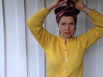 Happy Hair- how to tie a retro headscarf