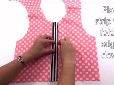 How to add a faux button placket tutorial