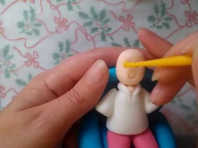 How to add the head and arms to the person cake topper by The Cake Tower
