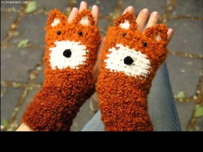 How to crochet gloves