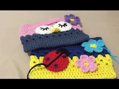 How to Crochet Owl Or Ladybird Bag Part 1