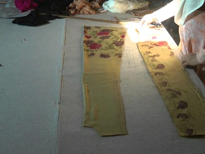 How to cut a khalidar dress