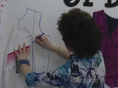 How to Design.Draw a Princess Line with Waist Dart Shaping