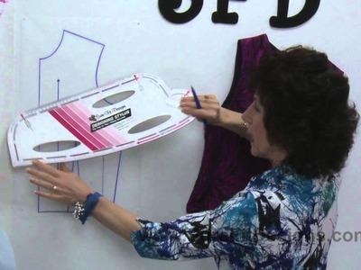 How to Design.Draw a Princess Line with a Short Dart