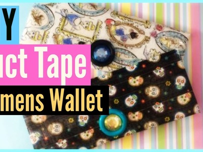 How To: DIY Duct Tape Womens Wallet! | CraftieAngie