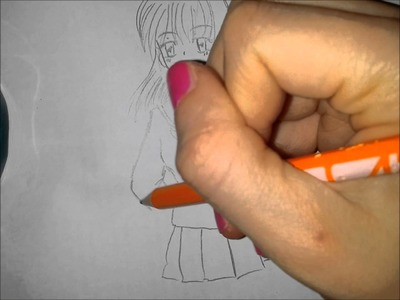 How to draw a manga girl - Simple