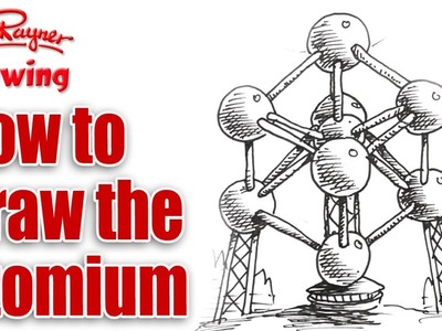 How to Draw the Atomium in Brussels