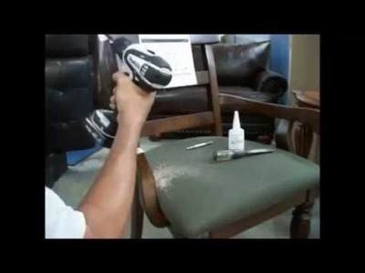 How to fix broken dinette chairs arm  , como arreglar el brazo roto de una silla