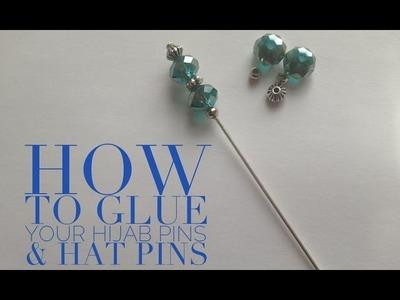 How to glue hijab pins. hat pins