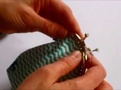How to hand sew a purse clasp - Purse making tutorial Part 2