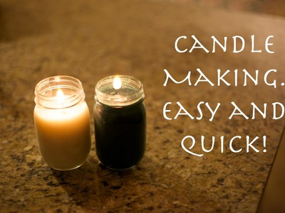 How to make a candle. Easy and quick!