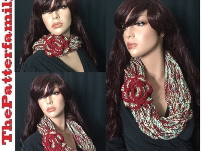 How to Make a Chain Cowl with a Flower Pattern #34│by ThePatterfamily
