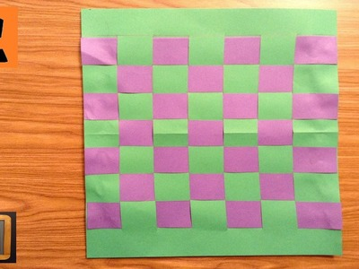 How to Make a Cool Color Paper Weaving