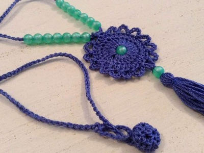 How To Make A Crochet And Tassel Necklace - DIY Crafts Tutorial - Guidecentral