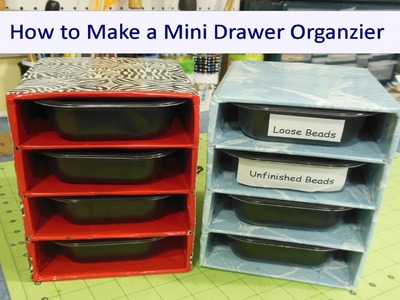 How to Make a Mini Organizer With Duck Tape and Small Boxes!