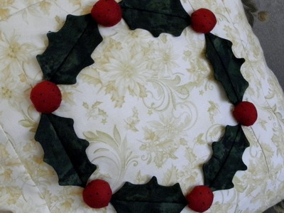 How to make a pillow cover from a quilt block