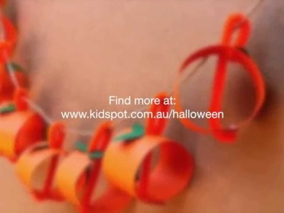 How to make a pumpkin garland