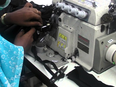 How To Make a T Shirt   Step 3   Neck rib attach