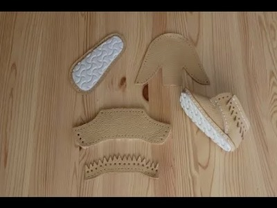 How to make baby shoes : NIKA model 01 heel parts   First Baby Shoes