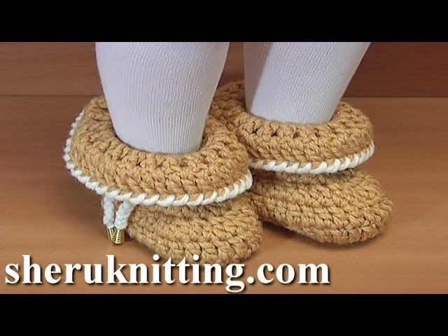 How to Make Crochet  Folded Booties For Baby  Tutorial 45 Easy to Crochet Shoes