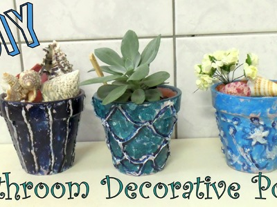 How to Make Decorative Pots for your Bathroom | DIY on a Budget
