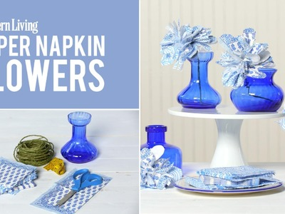 How To Make Paper Napkin Flowers